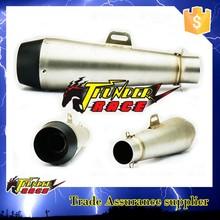 Universal muffler exhaust silencer for racing motorcycle