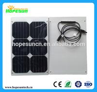 Sunpower semi flexible solar panel 20W mini solar panel
