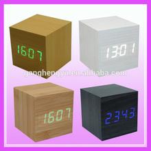 Factory supplies LED wooden digital alarm clock