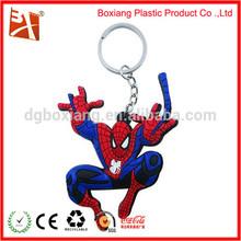 spiderman rubber keychain/pvc keychain for halloween gift