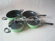 Aluminum Cooking pot Set with non-stick Coating /bakelite handle