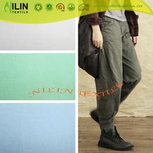 2015 fashion fabric cotton for slack plain dyed suit fabric