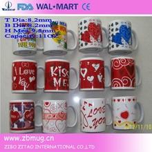 wholesale hotel&restaurant decal ceramic tea cups fine porcelain