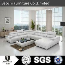 Baochi sala de estar projetos conjunto de sofá, Sala de estar mobiliário l forma sofá C1128