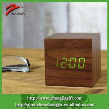Miniature Clock,,Wooden Alarm Clock,Office Table Clock