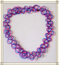 handmade jewelry Double layer choker tattoo blue & red necklace, candy color fashion jewerly