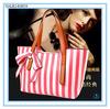 Elegant Striped PU Leather Handbag Ladies Fashion Design Hobo Bags