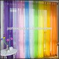 100% polyester plain pure cristal rideaux de voile, pure cristal tissu voile