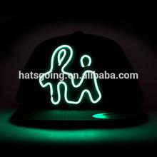 Custom Made LED Glow Flashing Light Hats Snapback Hats Caps