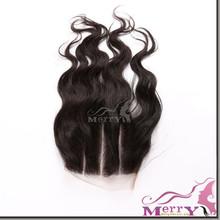 No shedding 7A quality touch soft natural color 3 part lace closure