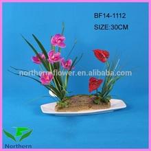 30 cm handmade flor artificial orquídea roxa atacado