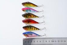 2014 Game Vibe fishing lure Vibration lure hand plastic fishing lure minnow minnow vibs swimming fishing bait 6CM 13.1G 8#hooks