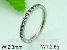 Black stone latest finger ring designs ladies' finger ring