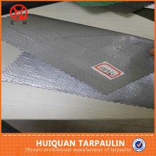 Super heavy duty sun- resistant pe silver black tarps