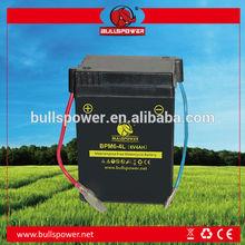 6V 4Ah dry battery for best motorcycle battery brand