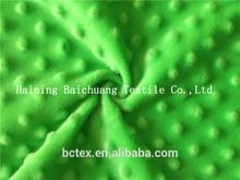 100%polyester 3D bubble short pile fleece fabric wholesale for blanket, rug,cushion,garment,sofa