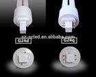 G24d 2pin g24q 4pin 10W u shaped led lamp g24 with PC Lamp Body Material