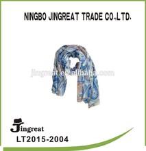 ladies print woven autumn silk scarf