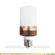 Bluetooth wireless speaker in a e 27 music light bulb