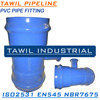 TAWIL ductile iron material pvc pipe saddle tee