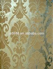 Embossed metallic wallpaper european style wallpaper