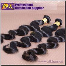 TOP hair supplier Guangzhou DK hair Black diamond hair extension