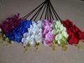 Seis colores de la mariposa orquídeas flores artificiales alta calidad feliz precio de venta al por mayor