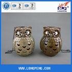 Owl LED Light Ceramic Hanging Lantern