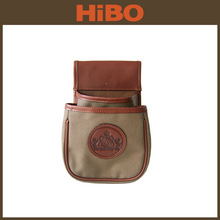 2014 Hot Sale Canvas and genuine leather gun shell pouch
