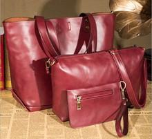 big handbag with 3 piece one set high quality woman bag YLX606