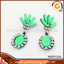 Cluster Earrings Cameo Faceted Stone Drop Earrings Big Dangling Earrings