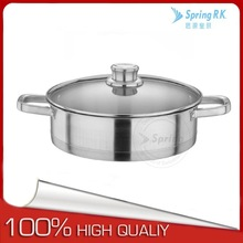High quality Forged Stainless Steel 304 induction wok pan