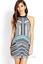 China manufacturer printed dresses women,casual women dresses,summer ladies dresses,SHKHD0077
