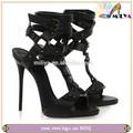 Hebilla miliya strapy sexy zapatos sandalia! Tacón alto diseño de moda zapatos de tacones
