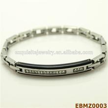 TOP QUALITY Latest Design !! White Zircon Chain Bracelet Fashion Stainless Steel Jewelry