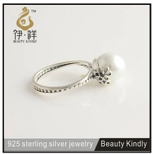 The latest design simple wedding ring 925 sterling silver pearl ring designs for women XR013