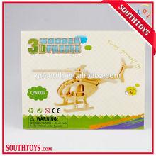 wooden 3d helicopter puzzle enlighten kids' brain development