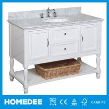 Alibaba No.1 Homedee Solid Wood Bathroom Cabinet Stone Surface