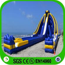 Blue inflatable waterslide, big water slides for sale