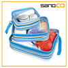 clear PVC travel luggage organizer, 3 in1 travel packing cubes