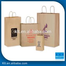 brown paper bag with handle /brown kraft paper bag / coffee bag
