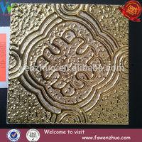 Golden decorative paniting handmade tile