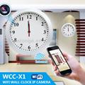 والتكنولوجيا p2p ذات الثقب ساعة الكاميرا مع واي فاي وظيفة الجدار/ البطارية/ بطاقة sd