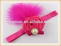 2015 personalizado latest projeto elastic red penas do falso pérola crochet headbands e flores de crochê