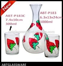decorative art glass decanter/unique carafe Handblown Glassware Factory