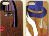 fashion style wooden 3d human image printable mobile phone case cover for iphone 5/5s