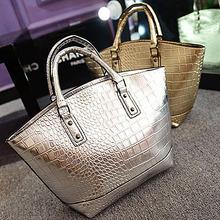 E845 new material fashion branded crocodile leather market bag