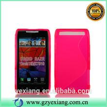 Factory Price TPU Mobile Phone Cover For Motorola Razr XT910 Gel Case
