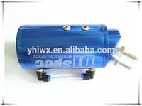 aluminum metal universal blue color oil catch tank