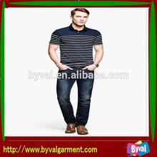 Wholesale New Fashion Men Polo Stripe Polo For Men Factory Yarn Dye Polo In Bulk Selling